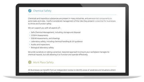Bespoke Small Business Website - Horsham Based Company
