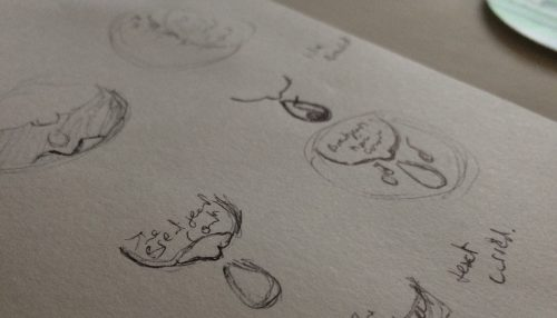 Sketches for The Breastfeeding Concert logo by 1348Design